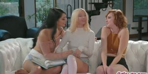Cadey fucked both Kenzie and Gina in hot threesome