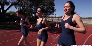 Track runner teen