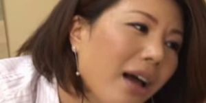 Japanese asian mature giving blowjob