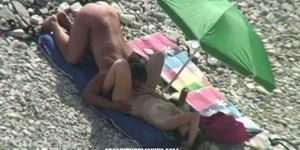 Freak couple fuck in public on the beach