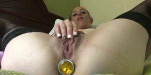 Horny amateur wife needs a butt plug