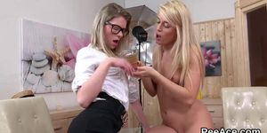 Blonde Lesbo Eating Pussy For Tasty Piss