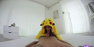 Sexy pokemon babe craves for a huge cock VR porn