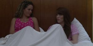 Curly hair lesbian Prinzzess sits on Gwen Stark face an