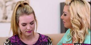 Hot lesbians Cosima Knight and Sasha Sean plays with th