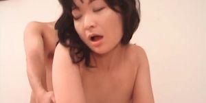 Slim Japanese enjoying hardcore anal sex in several pos