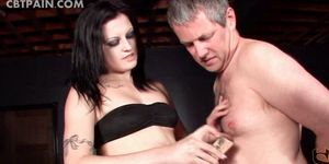 Hardcore sex for mature guy dick tortured in BDSM video