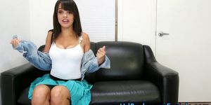 Busty casting teen shows
