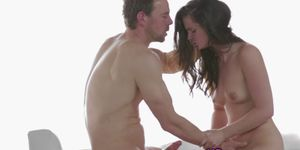 Horny young couple making sweet love