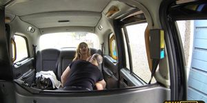 Hot lady in fishnet lingerie gets fucked by new cabbie