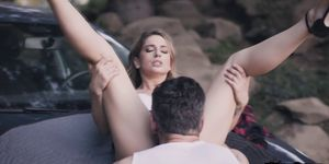 Kristen Bangs and Swallows Mikes Warm Load