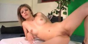 Horny Teen Teases Old Dude By Rubbing Her Sweet Pussy