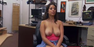Hardcore office fuck with beautiful brunette Nina