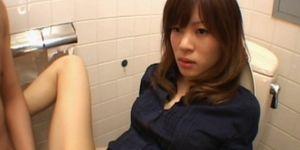 Tempting jap girl cunt nailed hard in bathroom