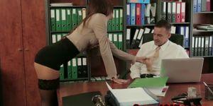 Secretary fucked by her boss right!