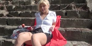 Euro amateur pickedup in public park for sex