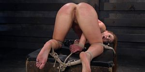 Hogtied Babe On Knees Ass Spanked