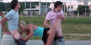 Risky PUBLIC teen gangbang in the street PART 1