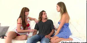 Lezzie Bianca seduces teen Alexis Adams