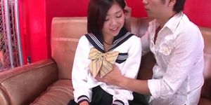 Sexy young pretty asian schoolgirl