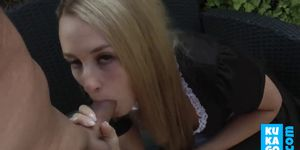 Blonde German Maid Loves ANAL