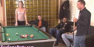 Gangbang sex game cumshot