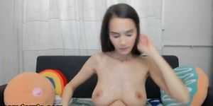 This brunette is real cutie she is the sexy babe