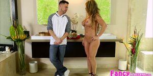 Big tits and MILF Farrah gets hammered