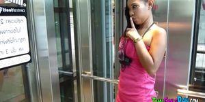 Thai babe in public toilet