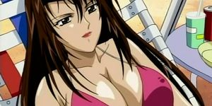 Anime sex slave in ropes pussy drilled hard in group