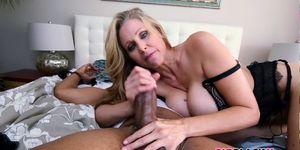 Pornstar Julia Ann gets fucked by black cock