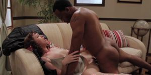 Alana Rains doused in chalky white