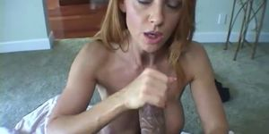 Big cock for Trisha to jerk off until it cums