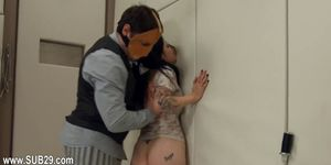 BDSM hardcore action with ropes and delicate sex