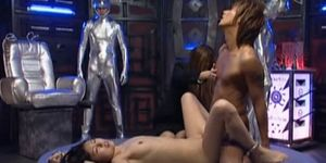 Little Japanese slaves sucking dick on knees