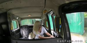 British blonde amateur fucked in fake taxi