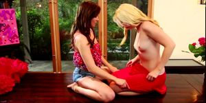 Wistful day for teen lovers brunette Kasey and blonde S