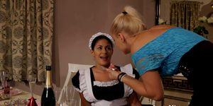 House maid intimately pranked