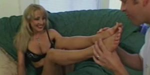 Footjob after some toe sucking