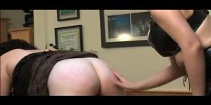Chubby Lesbian Ass Spanked In The Office