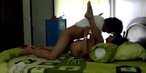 Hot Thai couple made home porn video