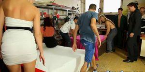 Bi carpenters get bj in orgy