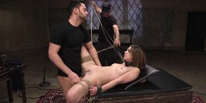 Masters Made Brunette Suck And Fuck