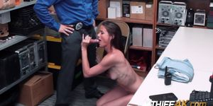 Hot milf Sofie is banged hard by horny officer once cau