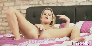 Stunning solo girl in a hot play