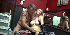 Whore fingered by tourist and gets tits sucked