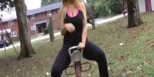 Tasha Cole walking in the park