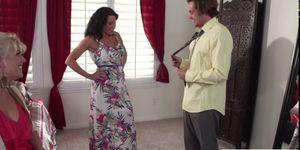 Milf Lezley Zen in threesome action sex