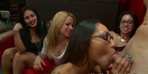 Blonde cfnm amateur gets a cumshot