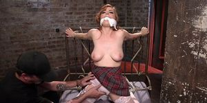 Redhead deep anal fingered in bdsm